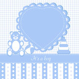 Baby boy  invitation card Royalty Free Stock Photo
