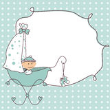 Baby boy invitation card Stock Photo