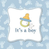 Baby Boy Invitation For Baby Shower Royalty Free Stock Photography