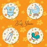 Baby boy items set. New baby boy items set Royalty Free Stock Image