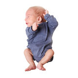 Baby boy jumping Stock Images