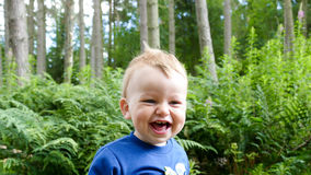 Baby boy laughing Royalty Free Stock Image