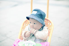 Baby boy looking away Royalty Free Stock Photography