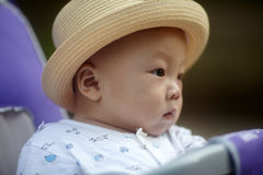 Baby boy looking away Royalty Free Stock Image