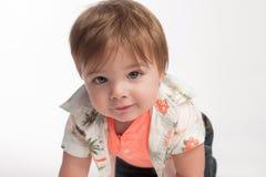 Baby Boy Looking at Camera stock image