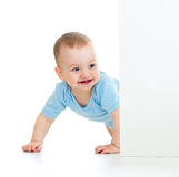 Baby boy looking out poster Royalty Free Stock Photography