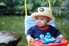 Baby boy looking Royalty Free Stock Photos