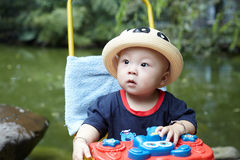 Baby boy looking Royalty Free Stock Photo