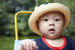 Baby boy looking Royalty Free Stock Photography