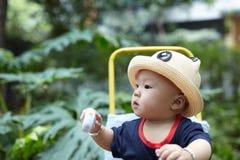 Baby boy looking Stock Image