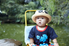 Baby boy looking Royalty Free Stock Images