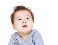 Baby boy looking up Stock Image