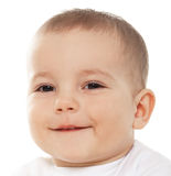 Baby boy looks at camera Royalty Free Stock Photo