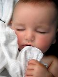 Baby Boy Lullaby Portrait stock photography