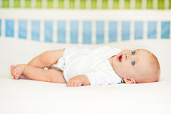 Baby Boy Lying Royalty Free Stock Photos