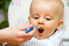 Baby boy meal Royalty Free Stock Photos