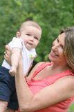 Baby Boy with Mom Stock Photography