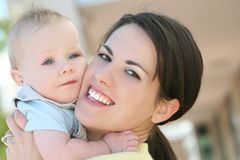 Baby Boy with Mom Royalty Free Stock Photography
