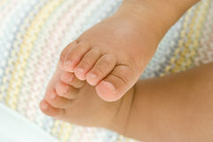 Baby boy (3-6 months), close-up of feet, low section Royalty Free Stock Photo