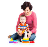 Mother and son baby play Stock Photography