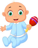 Baby boy with musical toy. Illustration of Baby boy with musical toy Stock Photos
