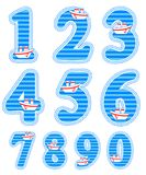 Baby boy numeral set. Isolated baby boy numeral set Royalty Free Stock Photo