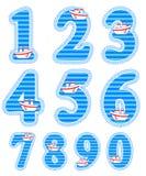 Baby boy numeral set Royalty Free Stock Photo