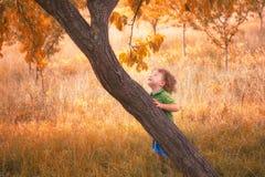 Baby boy outdoor Royalty Free Stock Photos