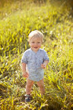 Baby boy outdoor Royalty Free Stock Photography