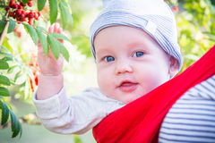 Baby boy outdoors portrait Royalty Free Stock Photos