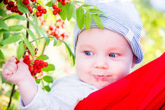 Baby boy outdoors portrait fall season Royalty Free Stock Photography