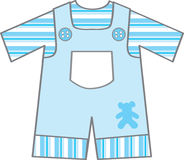 Baby boy outfit. A baby boys first blue outfit stock illustration