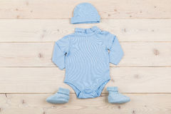 Baby boy outfit Stock Photos