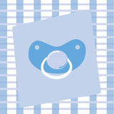 Baby Boy Pacifier Royalty Free Stock Image