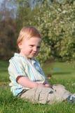 Baby boy park Royalty Free Stock Image
