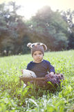 Baby boy in park Stock Image