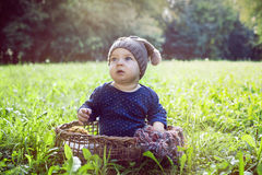 Baby boy in park Stock Photography
