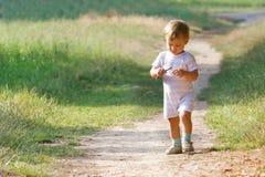 Baby boy in park. Baby boy walking in park Stock Photo