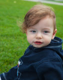 Baby boy in the park Royalty Free Stock Photos