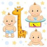 Baby boy 5 part. royalty free illustration