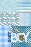 Baby boy patchwork Royalty Free Stock Photo