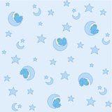 Baby boy pattern Royalty Free Stock Image