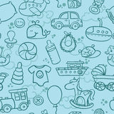 Baby boy pattern Stock Photo