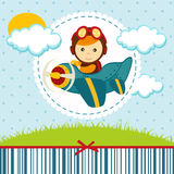 Baby boy pilot Royalty Free Stock Photo