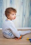 Baby boy in pj Stock Image