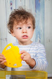 Baby boy in pj Stock Photo