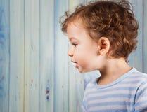 Baby boy in pj Stock Photos