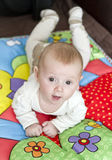 Baby boy on play blanket Royalty Free Stock Photo