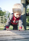 Baby boy on playground Royalty Free Stock Photos