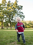 Baby boy on playground Royalty Free Stock Photography